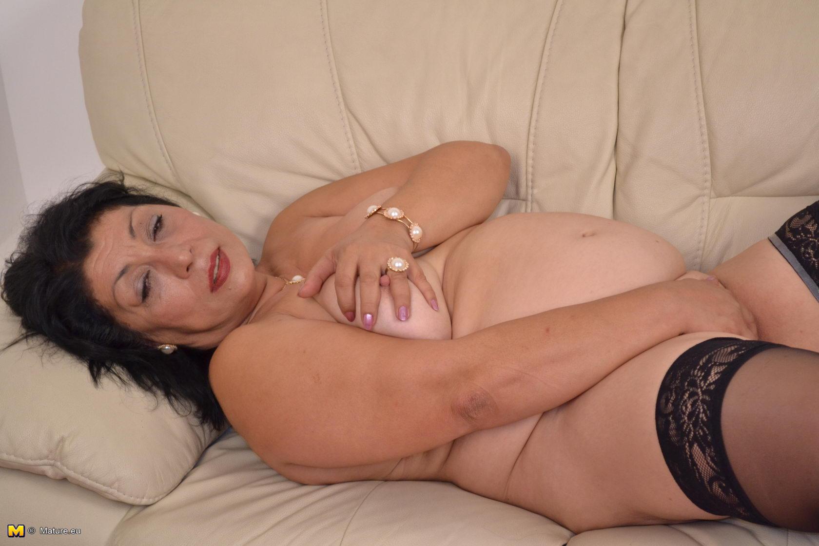 Naked tits in sheer lingerie